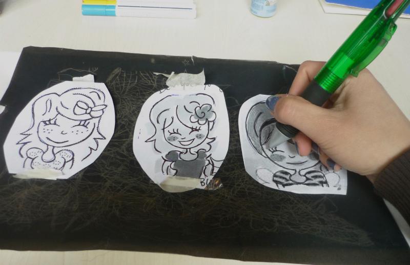 Diy porselein beschilderen beautyill for Carbon papier