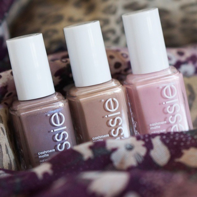 Which one do you like the most? #Essie #cashmerematte collection