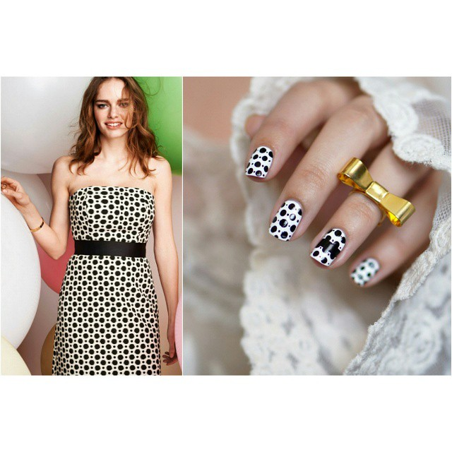 Nail art inspired by @stepsaday dress
