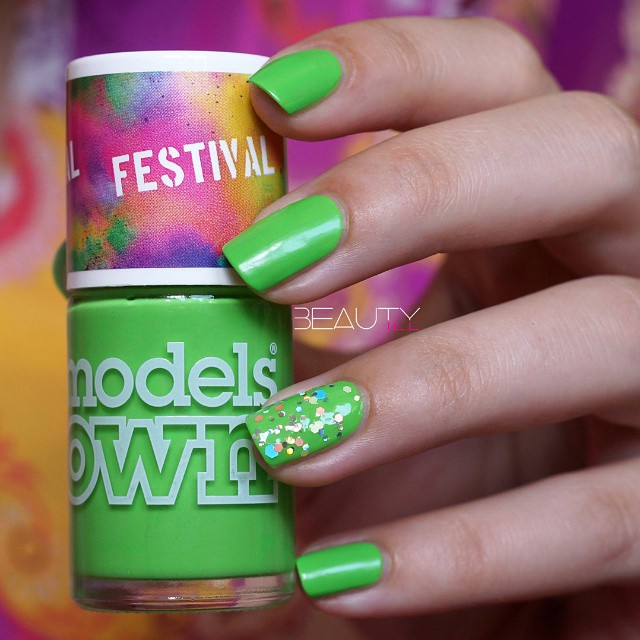 Models Own Green Fields Festival colour I'm not sure what…
