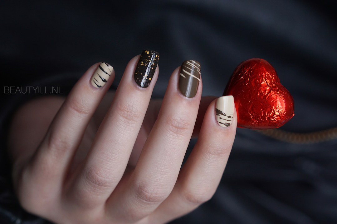 Nail art Valentine's Day Chocolate