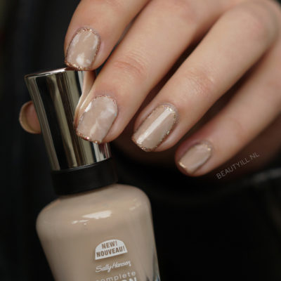 Outline nude stone marble nail art DIY