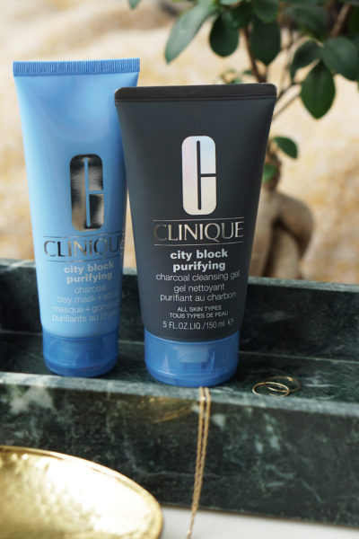 Clinique City Block Purifying Charcoal Cleansing Gel + Clay Mask / Scrub