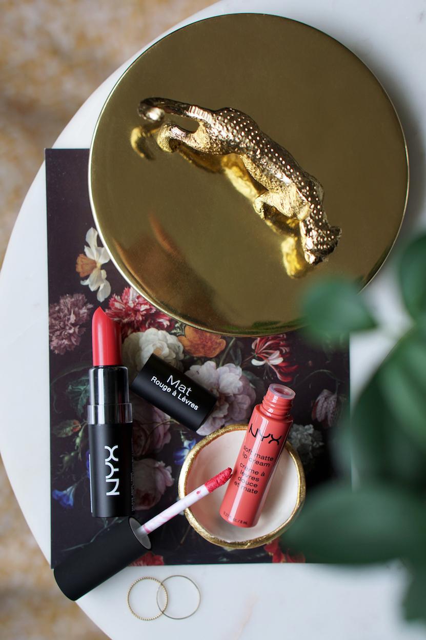 NYX Soft Matte Lip CreamAntwerp + Matte Lipstick Angel