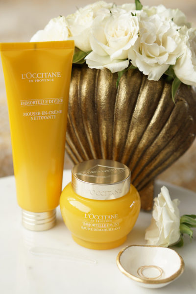 L'Occitane Immortelle Divine cleansing balm & cream-in-foam