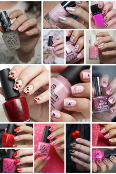 16x Valentines Day Nail Art