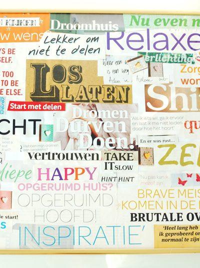 DIY Inspirational Words / Quote Board maken