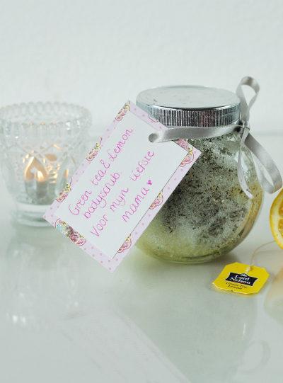 DIY Groene thee & citroen scrub maken voor moederdag