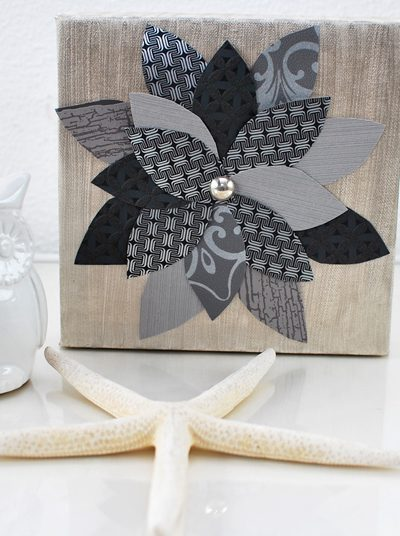 Schilderijtje met behang maken