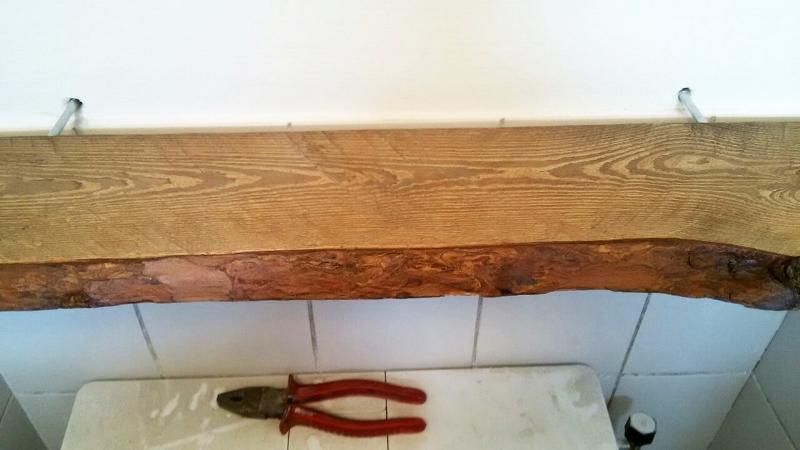 Plank Bevestigen Muur.Robuuste Boomstam Wandplank Diy Beautyill