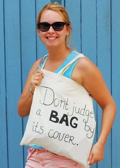 Canvas tas met persoonlijke quote maken, DIY