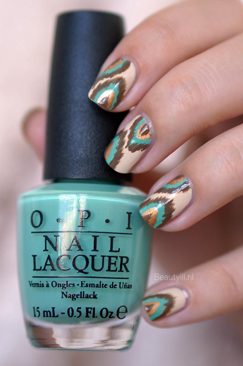 Ikat Nail Art inspired by OPI