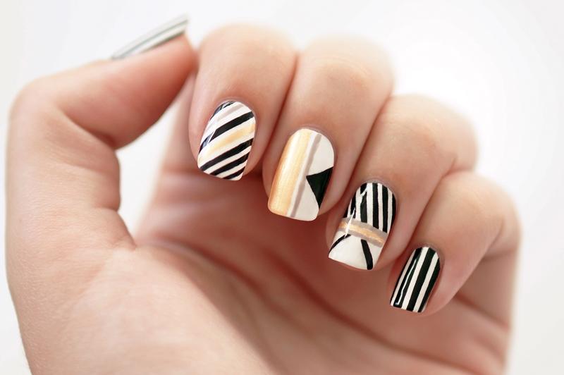 Fashionista Stylebook nail art Beautyill: Streepjes