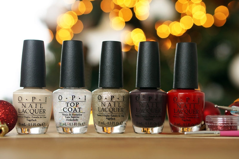 Christmas-nail-art-rendeer-opi-nude-brown-red-glitter-diy-beautyill (7)