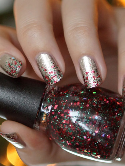 NOTD Holiday Rebel, Jiggle hi, jiggle low
