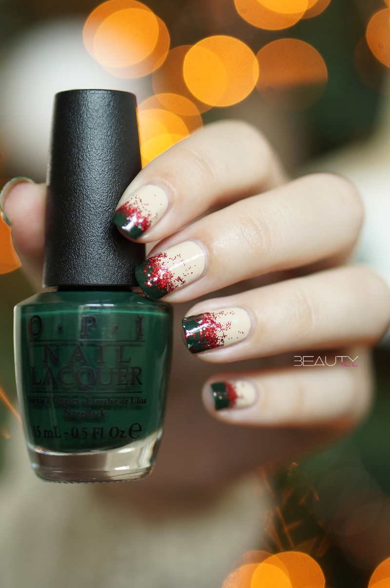 christmas-nail-art-beautyill-step-by-step-green-glitter-red-nude (2)