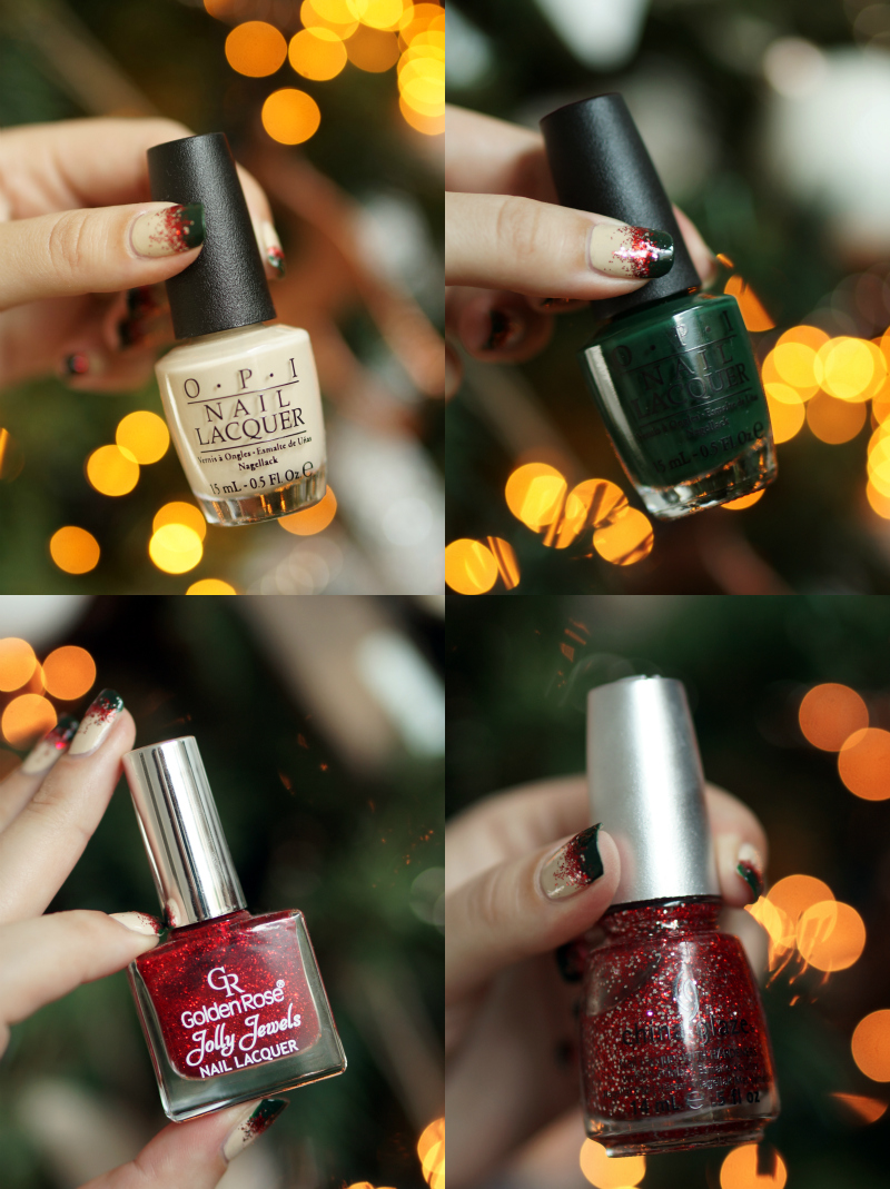christmas-nail-art-beautyill-step-by-step-green-glitter-red-nude (5)