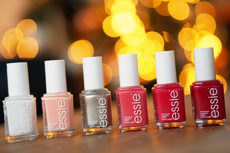 Essie Spirited Holiday Color swatches
