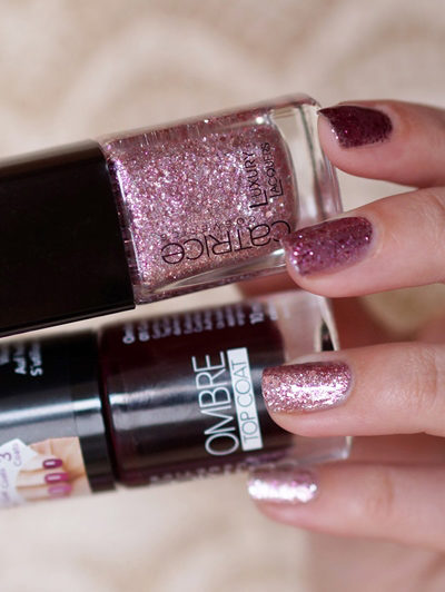 NOTD Catrice Luxury Lacquers Million Brilliance, Lost 'N Roses & Ombre Topcoat