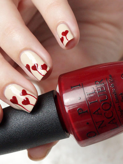 DIY Valentine's Day Nailart, It's All About Heart And Lies (Lines)