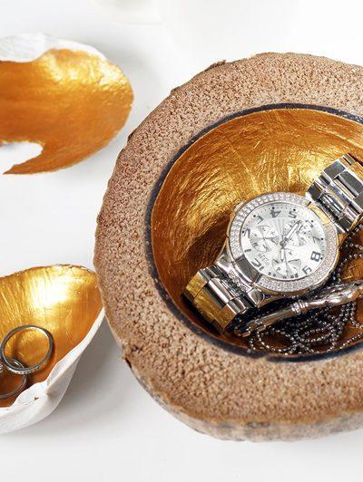 DIY gouden sieraden schaaltjes