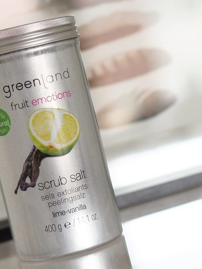 Greenland Fruit Emotions scrub salt Lime-Vanilla