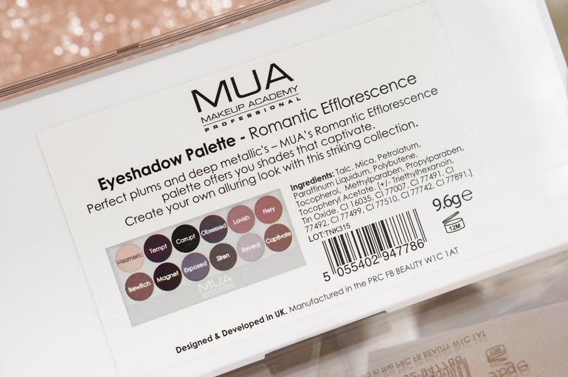 MUA Romantic Efflorescence oogschaduw palette