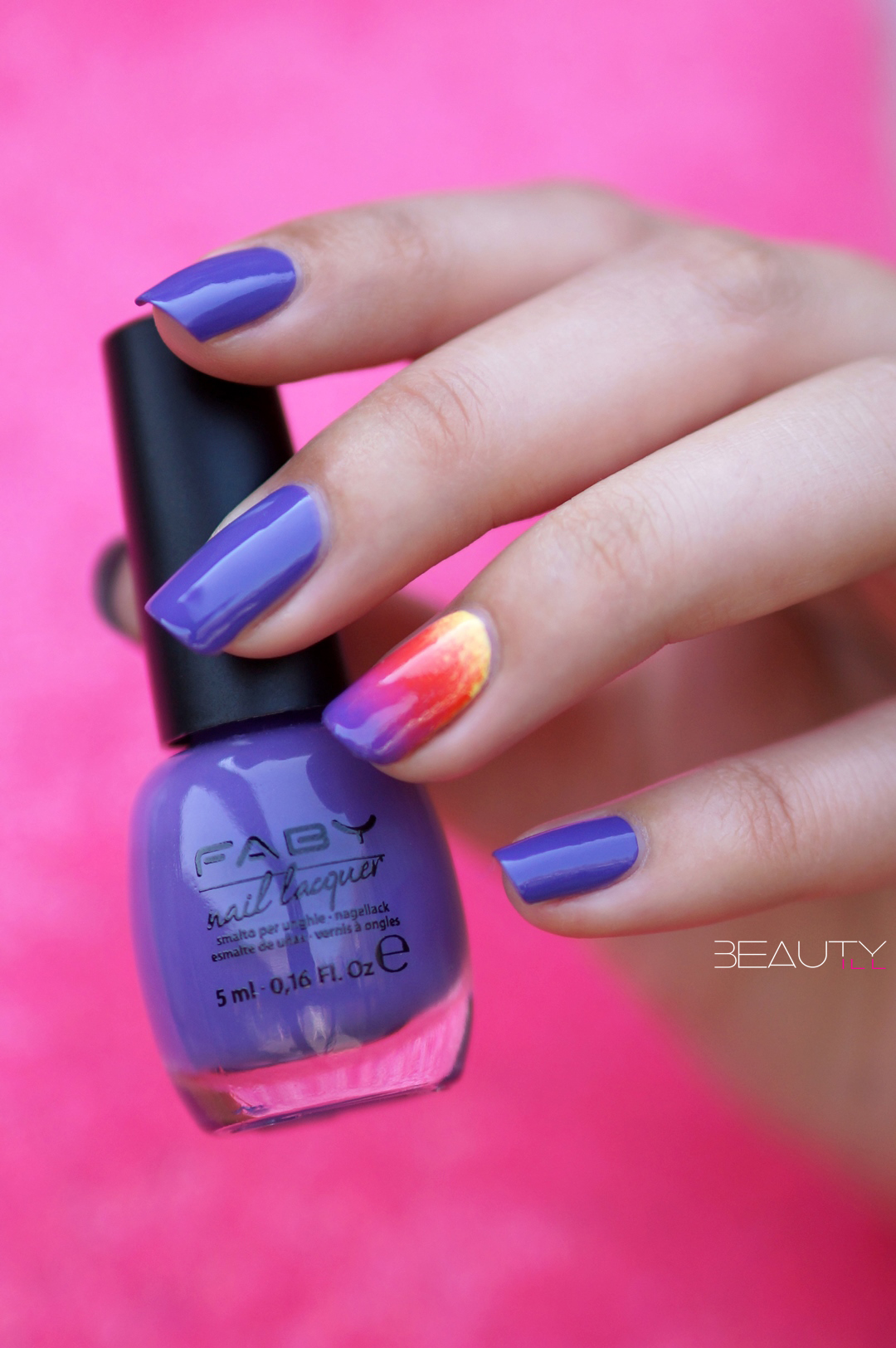 Ombre Nail Art + FABY Music Collection swatches