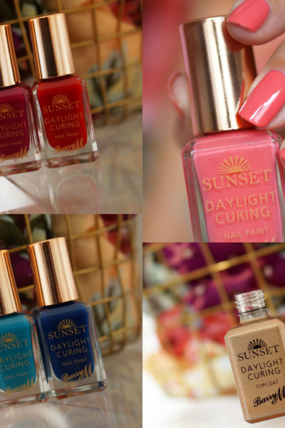 Barry M Sunset Daylight Curing nagellak swatches