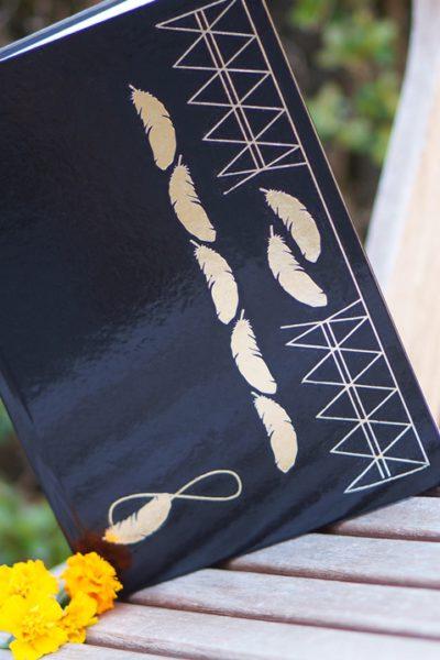 DIY Ibiza style notebook (Gold Hippie Tattoo)