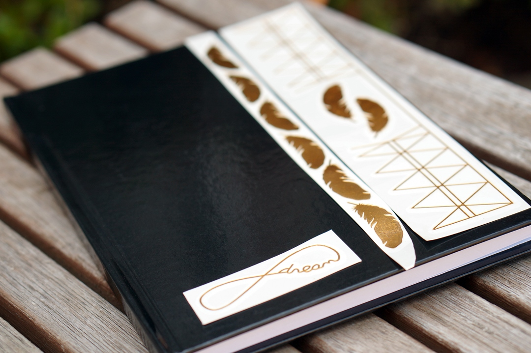 DIY Ibiza style notebook (Gold Hippie Tattoo)