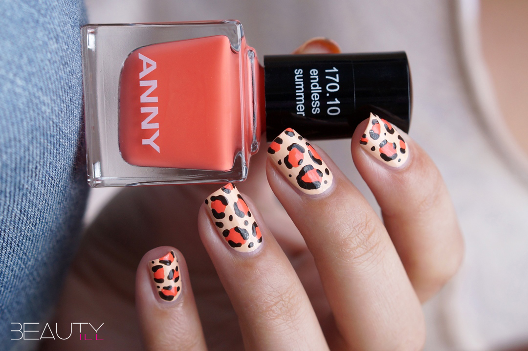 Anny Cruising In Miami Leopard Nail Art