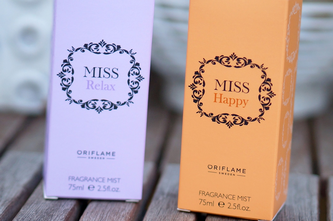 Oriflame Miss Happy & Miss Relax fragrance mist
