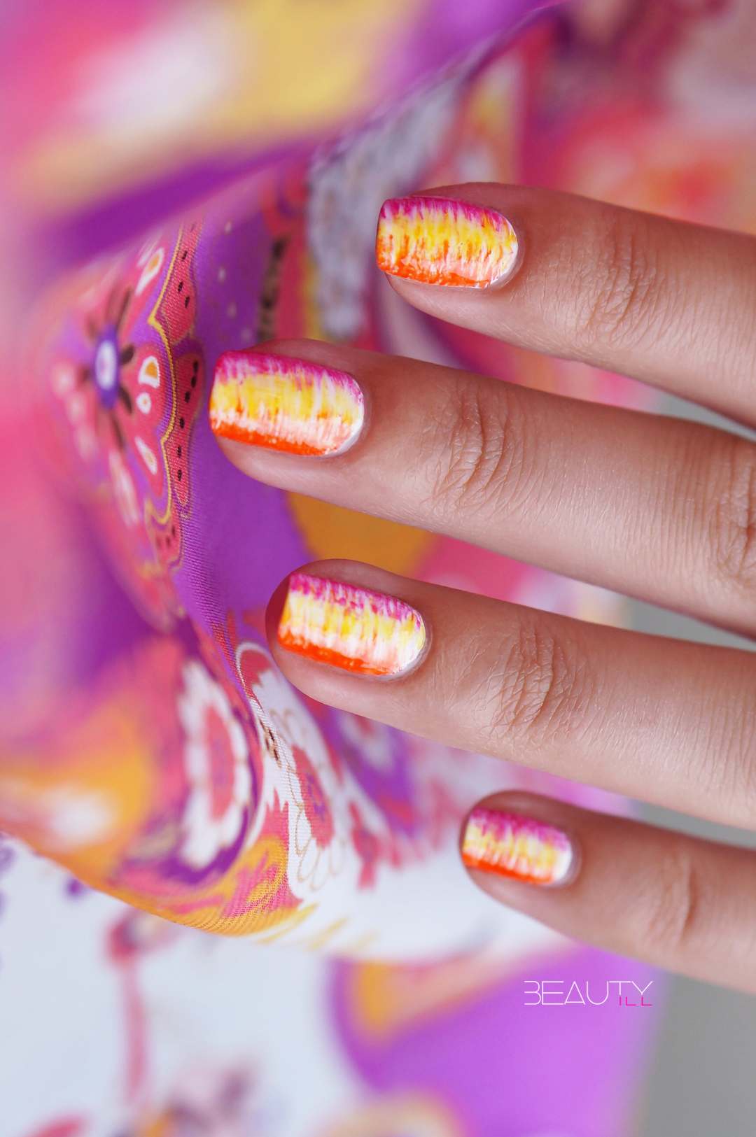 OPI ColorPaints fan (brush) nailart