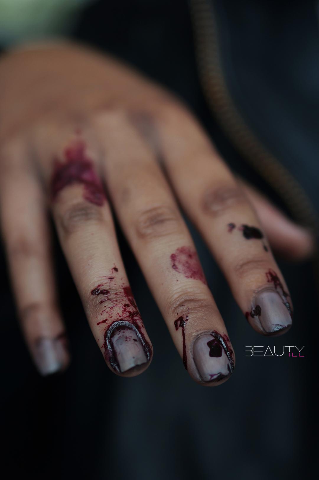 DIY Zombie Nail Art, remake