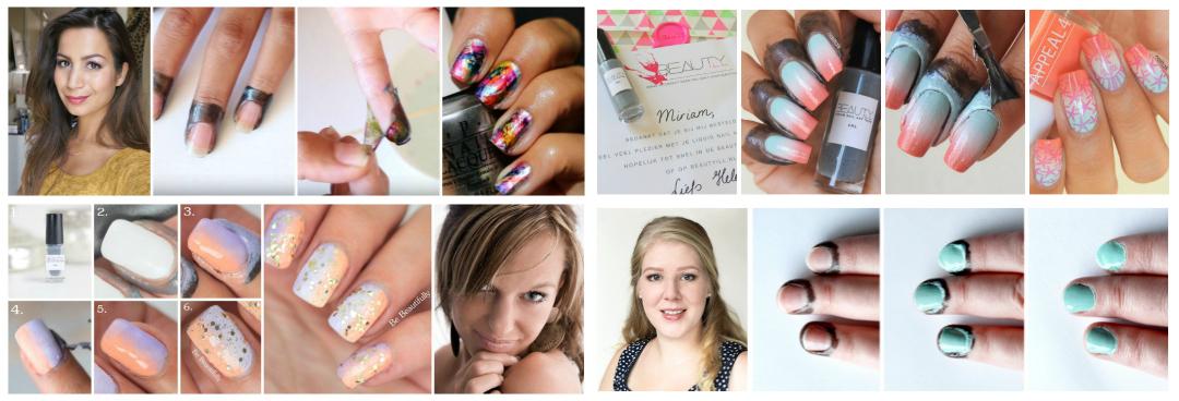 Nieuw! Liquid nail art tape: WIT