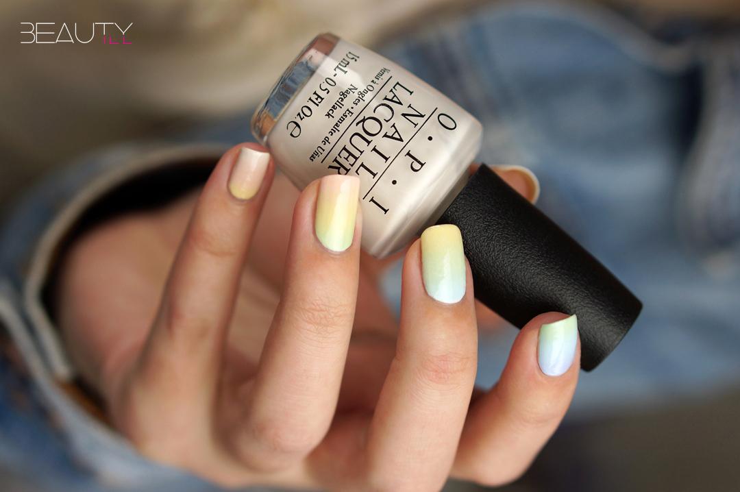 Nail Art Easter Pastel Gradient