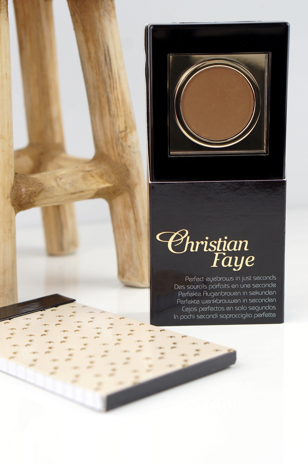 Christian Faye Dark Brown wenkbrauwpoeder