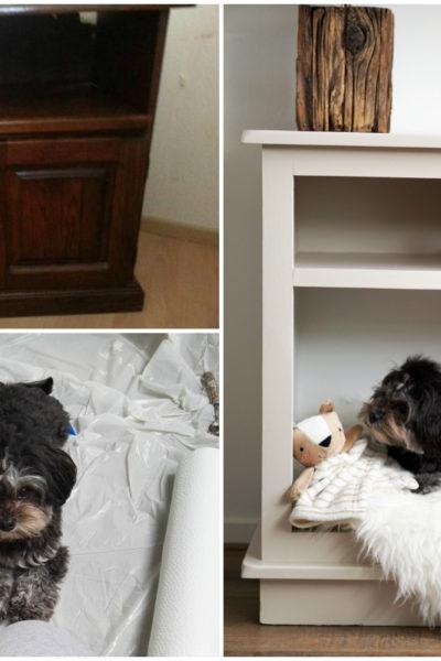 DIY TV kast hondenbed