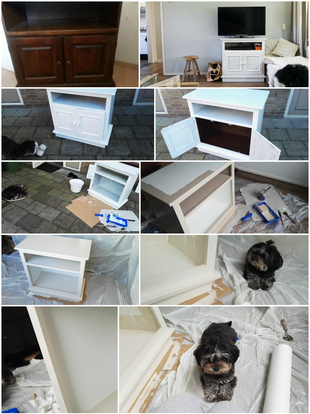 DIY TV kast hondenbed