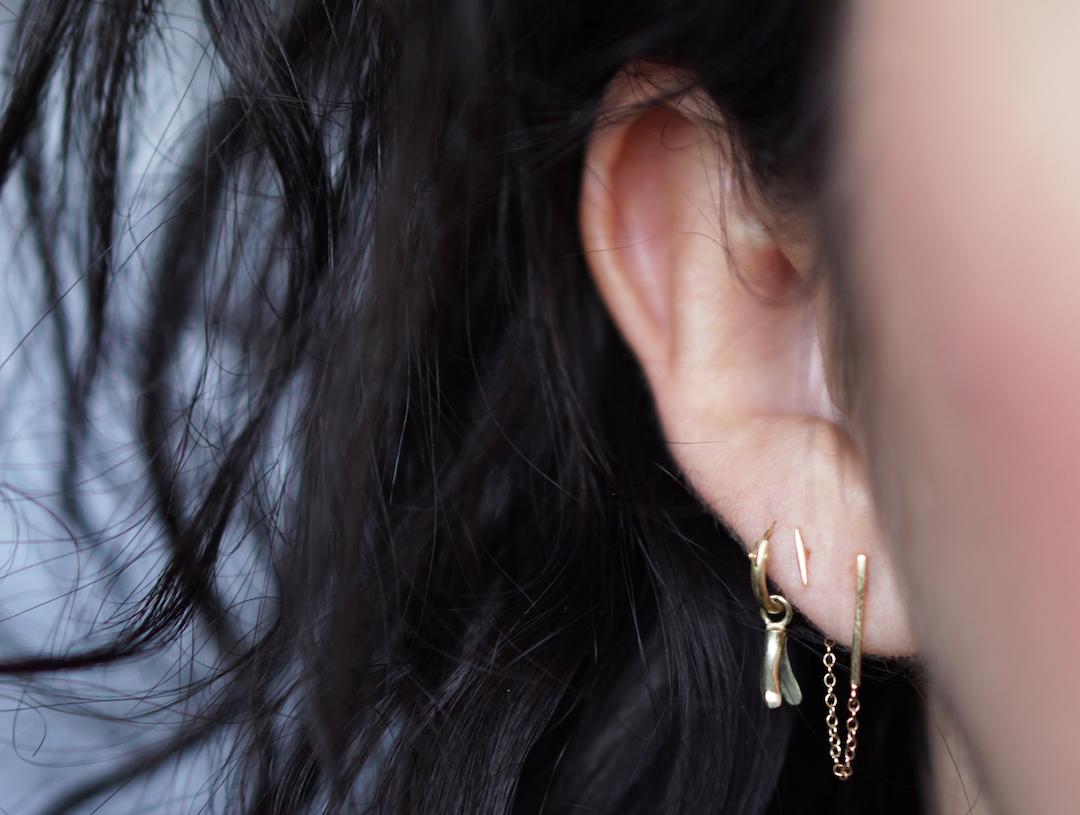 Minimalistische 14k gouden sieraden