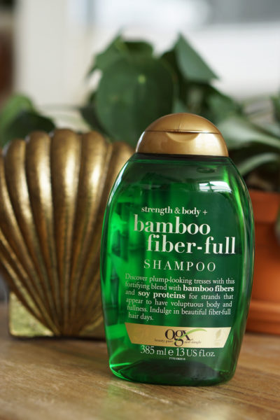 OGX Strength & Body Bamboo Fiber-full shampoo, conditioner