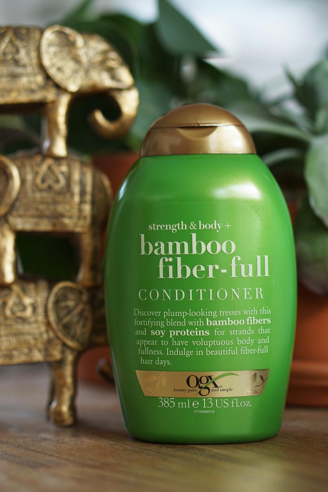OGX Strength & Body Bamboo Fiber-full shampoo, conditioner
