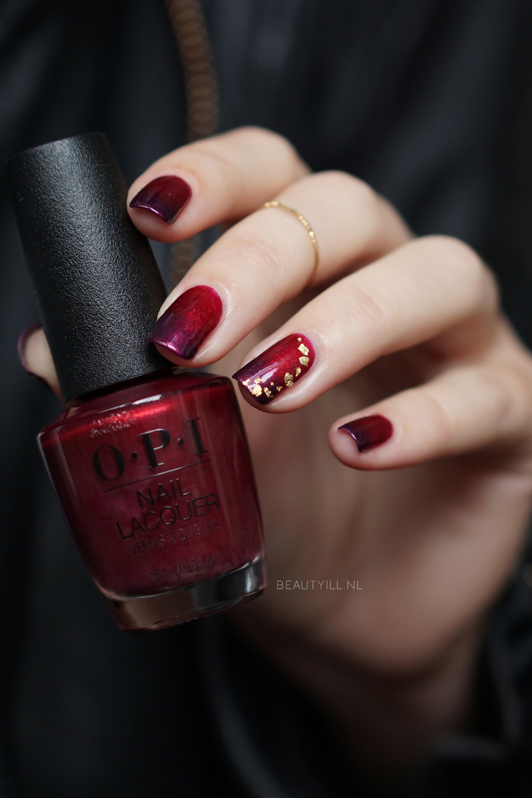 DIY Nail Art Love OPI XOXO