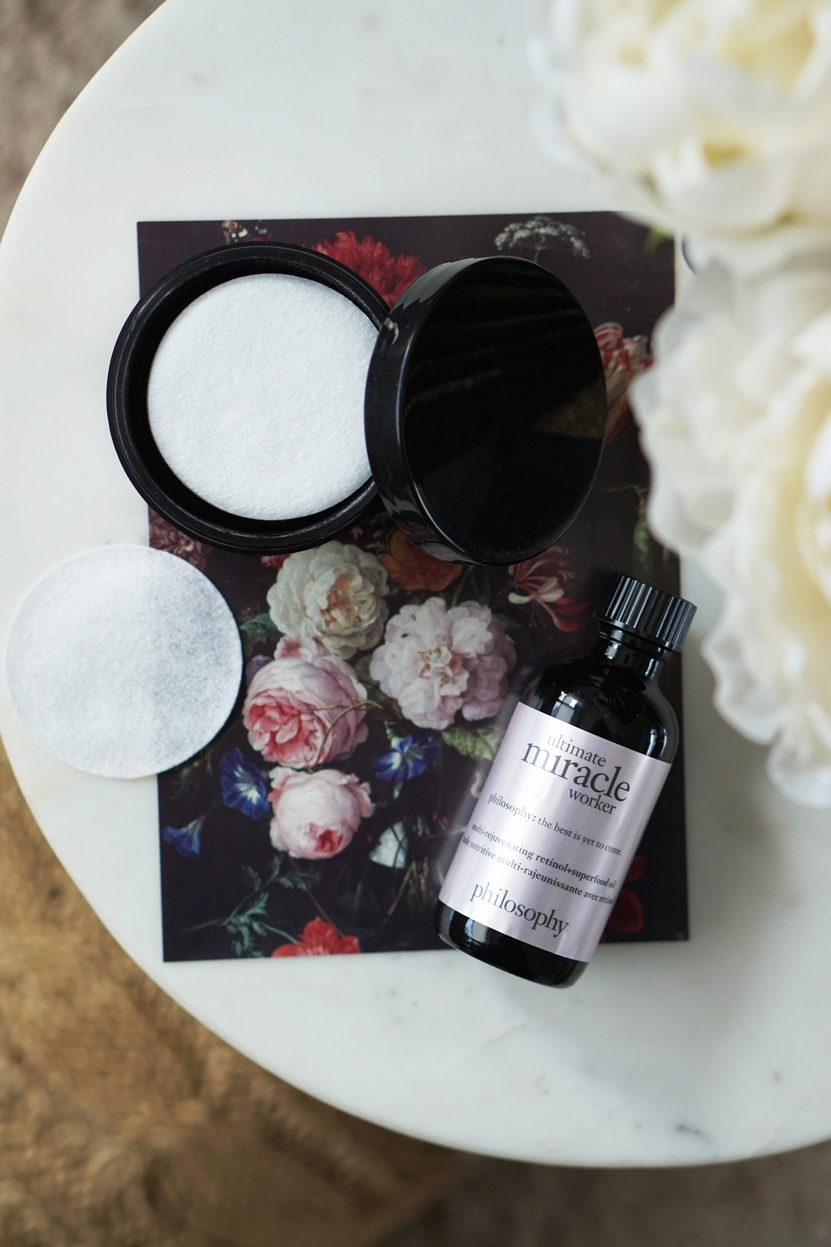 philosophy miracle worker retinol + superfood oil pads
