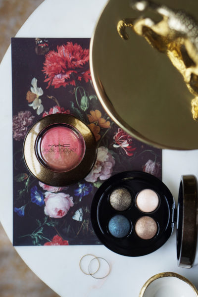 MAC Jade Jagger Burning Nights eye shadow & Mineralize Blush Perfect Bronze