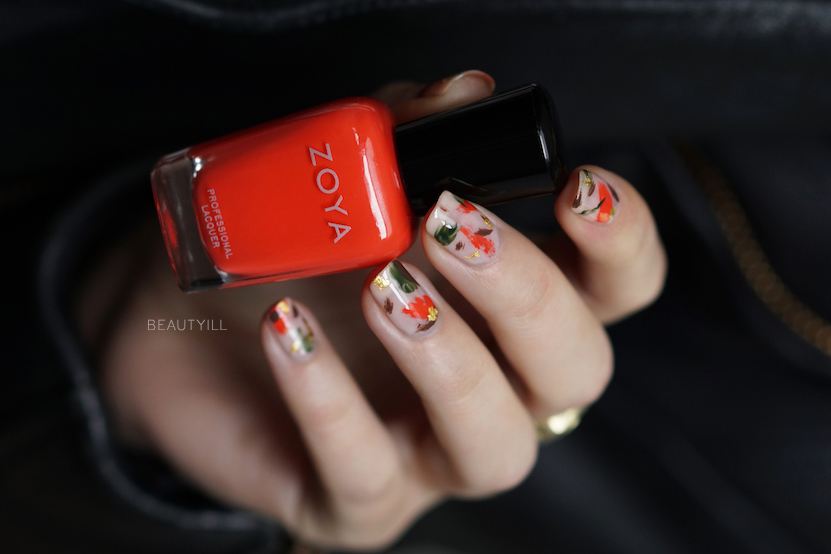 DIY Abstract Hunter Gold nail art