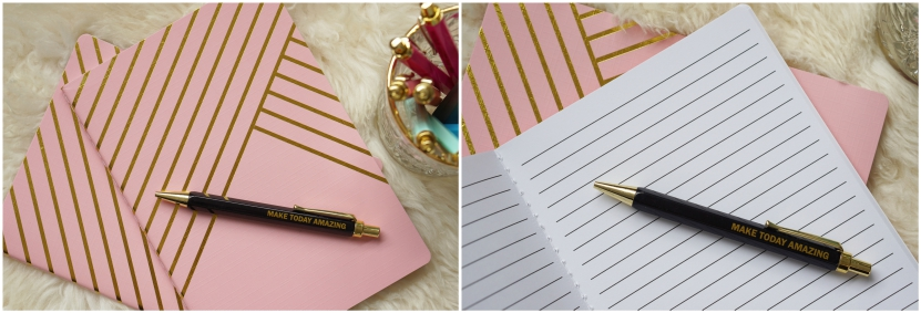 Action Stationery! Marmer / pennen met tekst