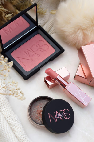 NARS Orgasm 2018 collection Lip balm, Blush & Illuminating Loose Powder