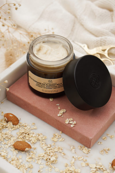 The Body Shop mediterranean almond milk with oat, Instant Soothing Mask